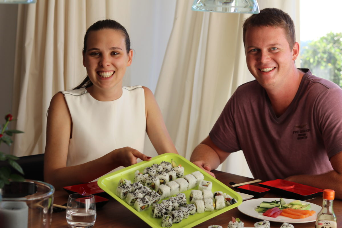 Onsite Sushi class in July 2018 (1)