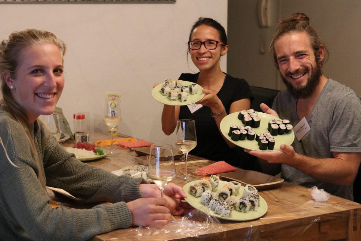 Sushi-Kurs vor Ort für eine Geburtstag-Party
