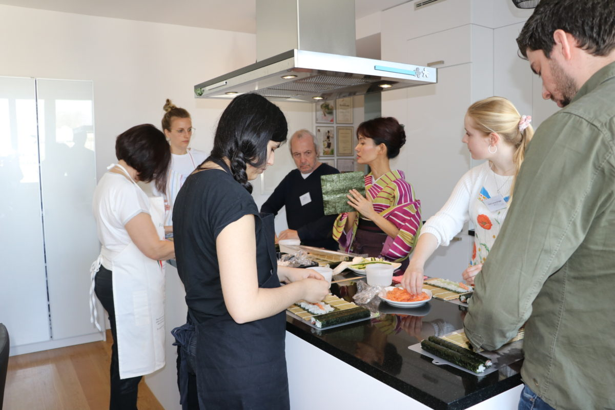 One day intensive sushi class in April 2018
