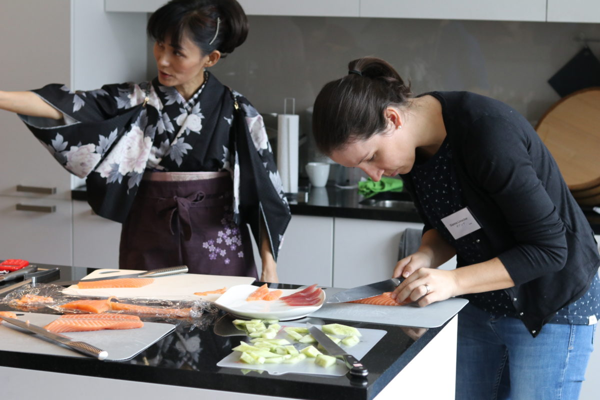 One day intensive sushi class in February 2019