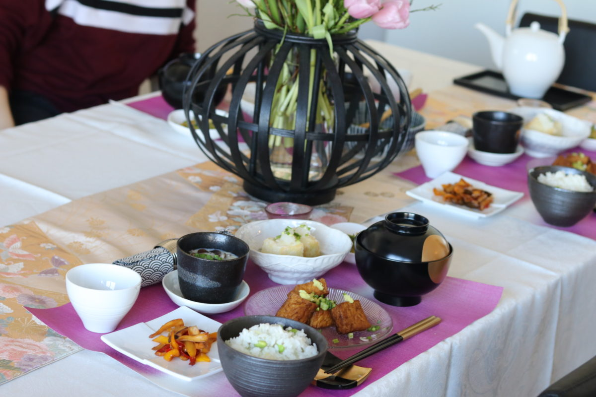 Japanese-vegetarian cooking class in 2019 February