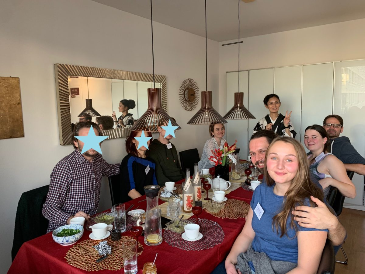 和食クラス(醤油ラーメン、羽根餃子、棒棒鶏と抹茶クリュームブリュレ) 2019年12月