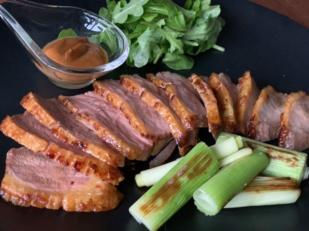 Roast duck with miso sauce