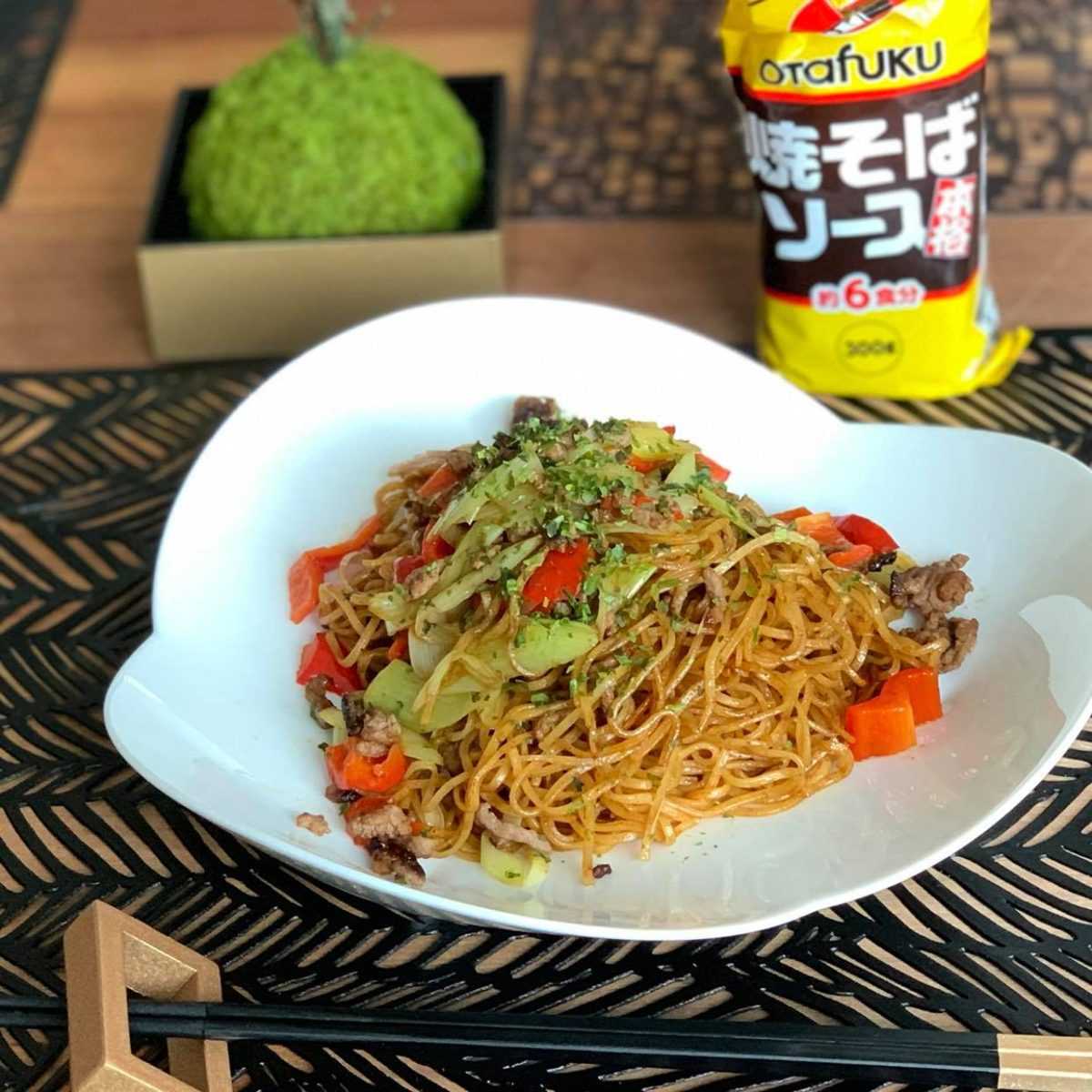 online yakisoba course: (free with Instagram-posting)