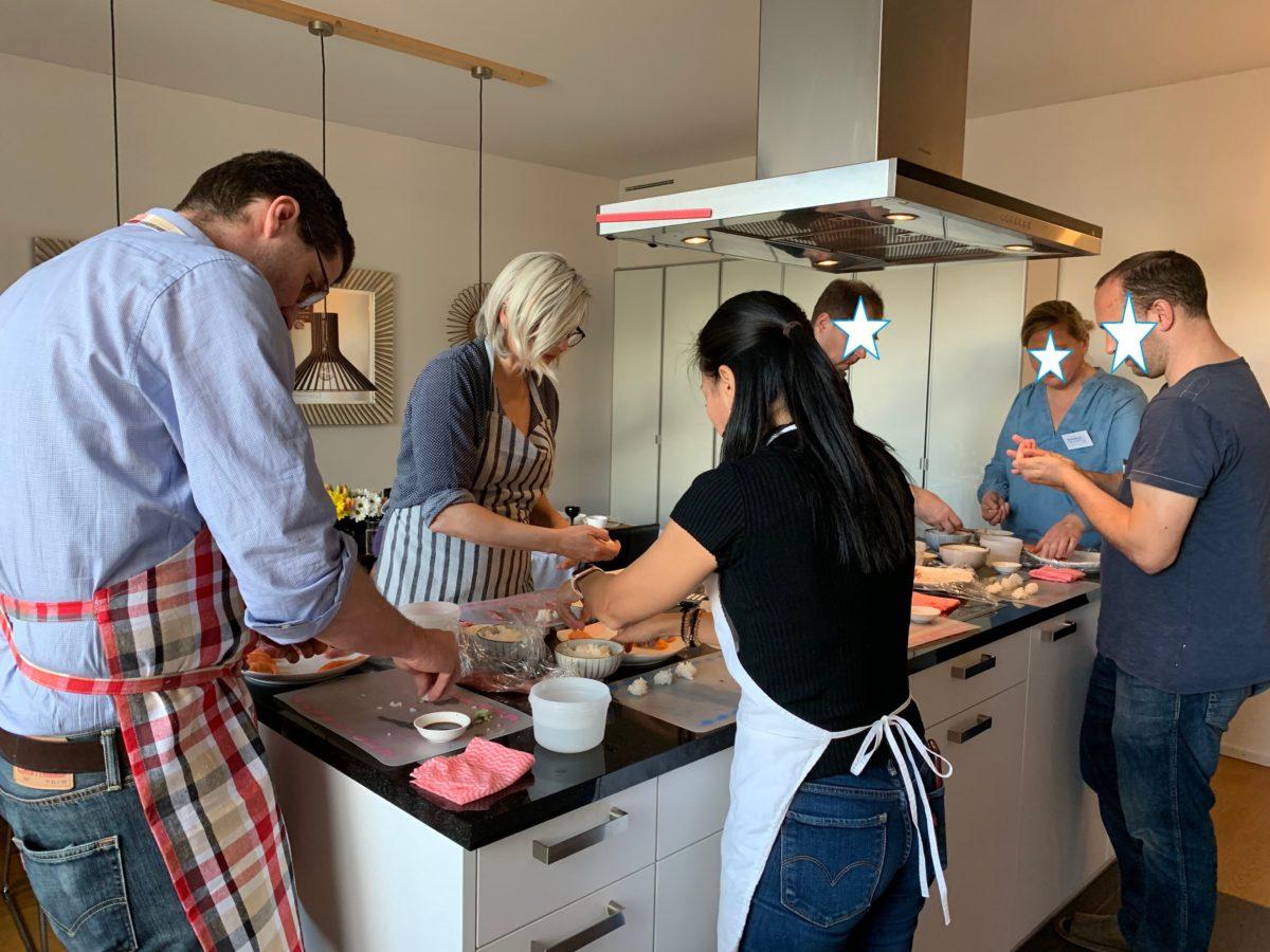 一日集中寿司クラス 2020年1月 巻き寿司は出来ても握りは?