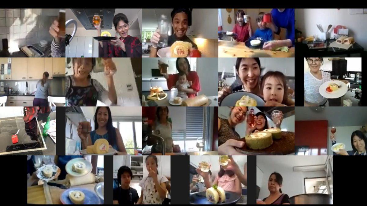 オンライン簡単ふわふわロールケーキ教室 2020年4月
