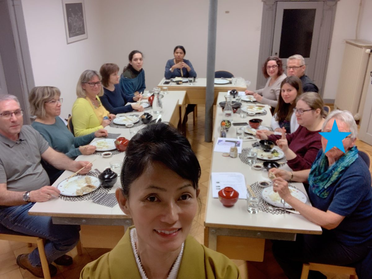 Onsite Japanese cooking class in Wil in February 2020
