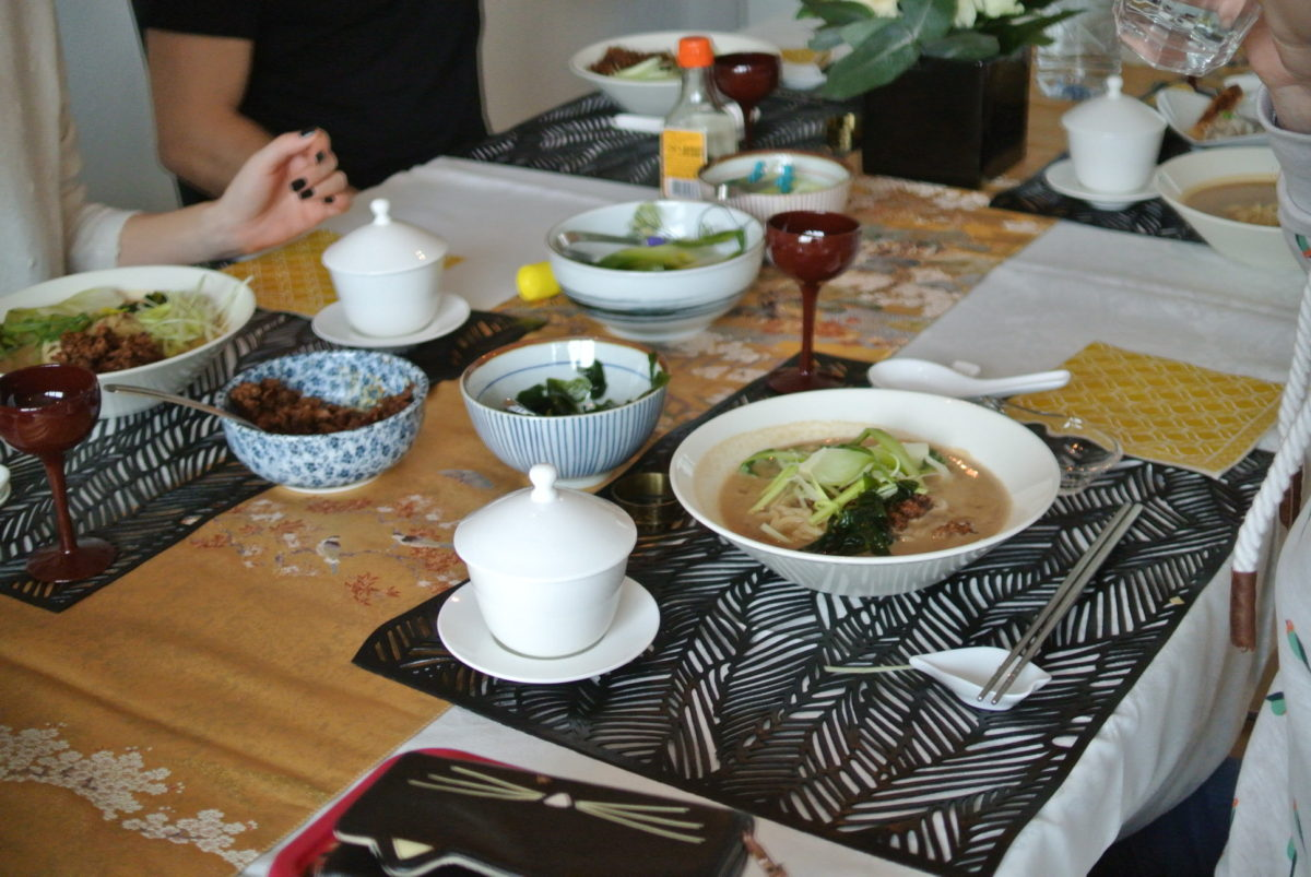 Japanese cooking class (Ramen) in February 2018
