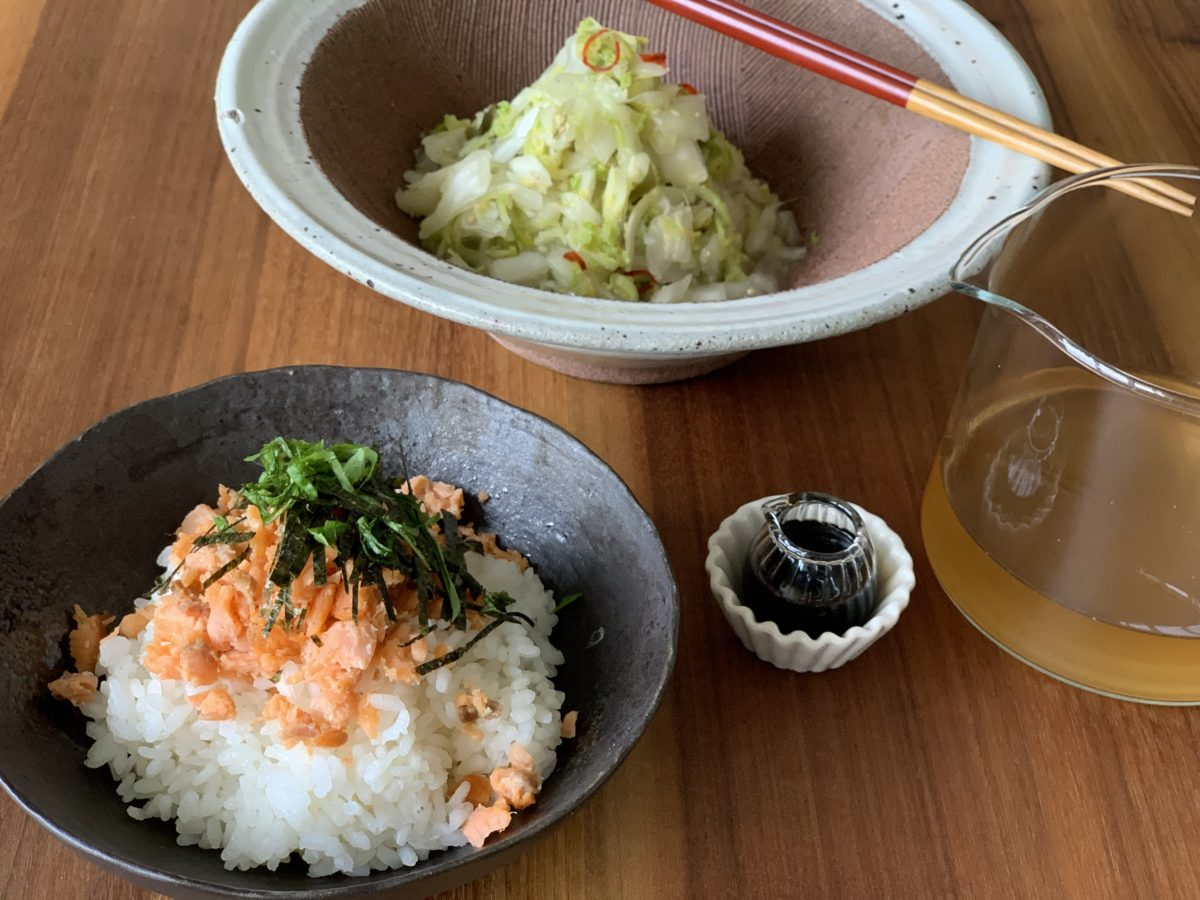 Online Kochkurs tsukemono und dashi-chazuke mit Lachs