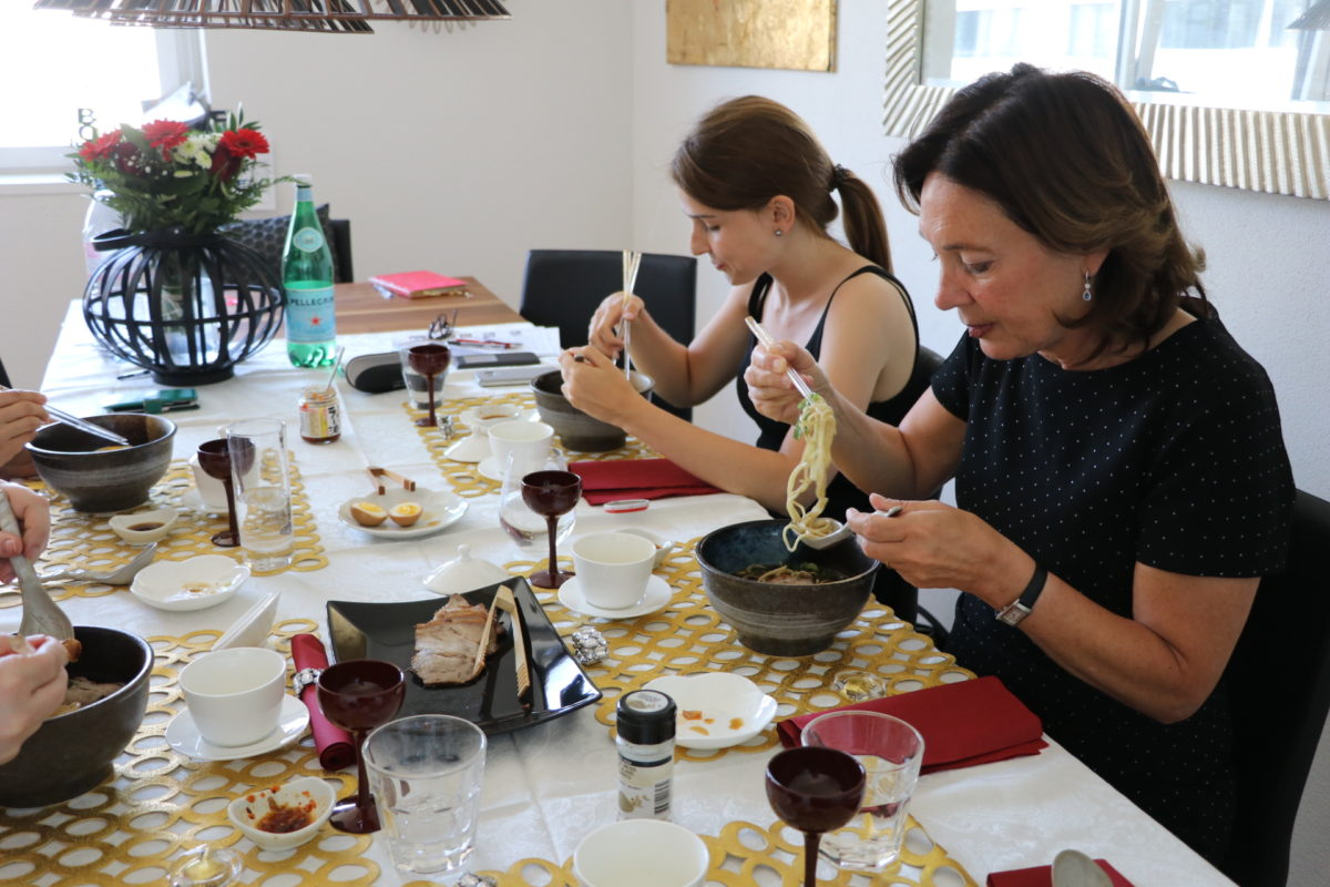 Japanese cooking class (Shoyu-Ramen) in May 2018