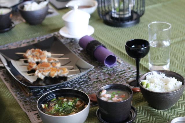 Yakitori und Chawanmushi