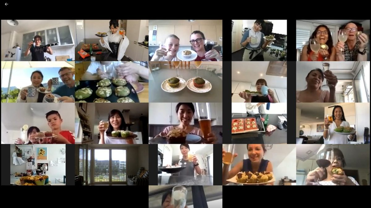 online matcha muffin class in May 2020