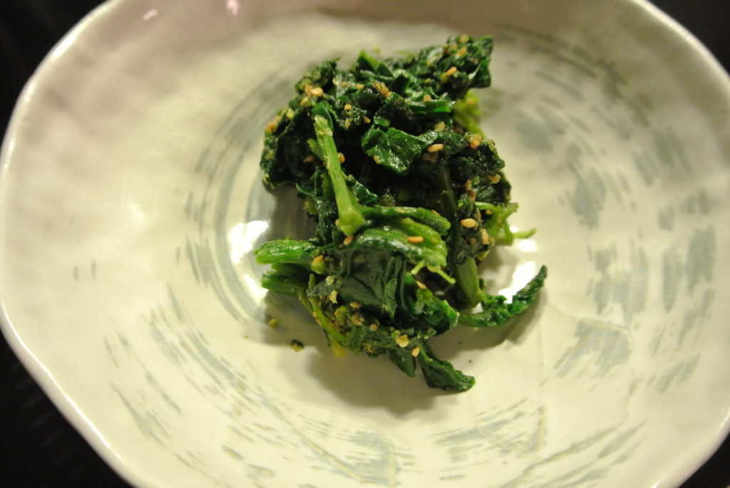 Spinach with sesame (goma-ae)