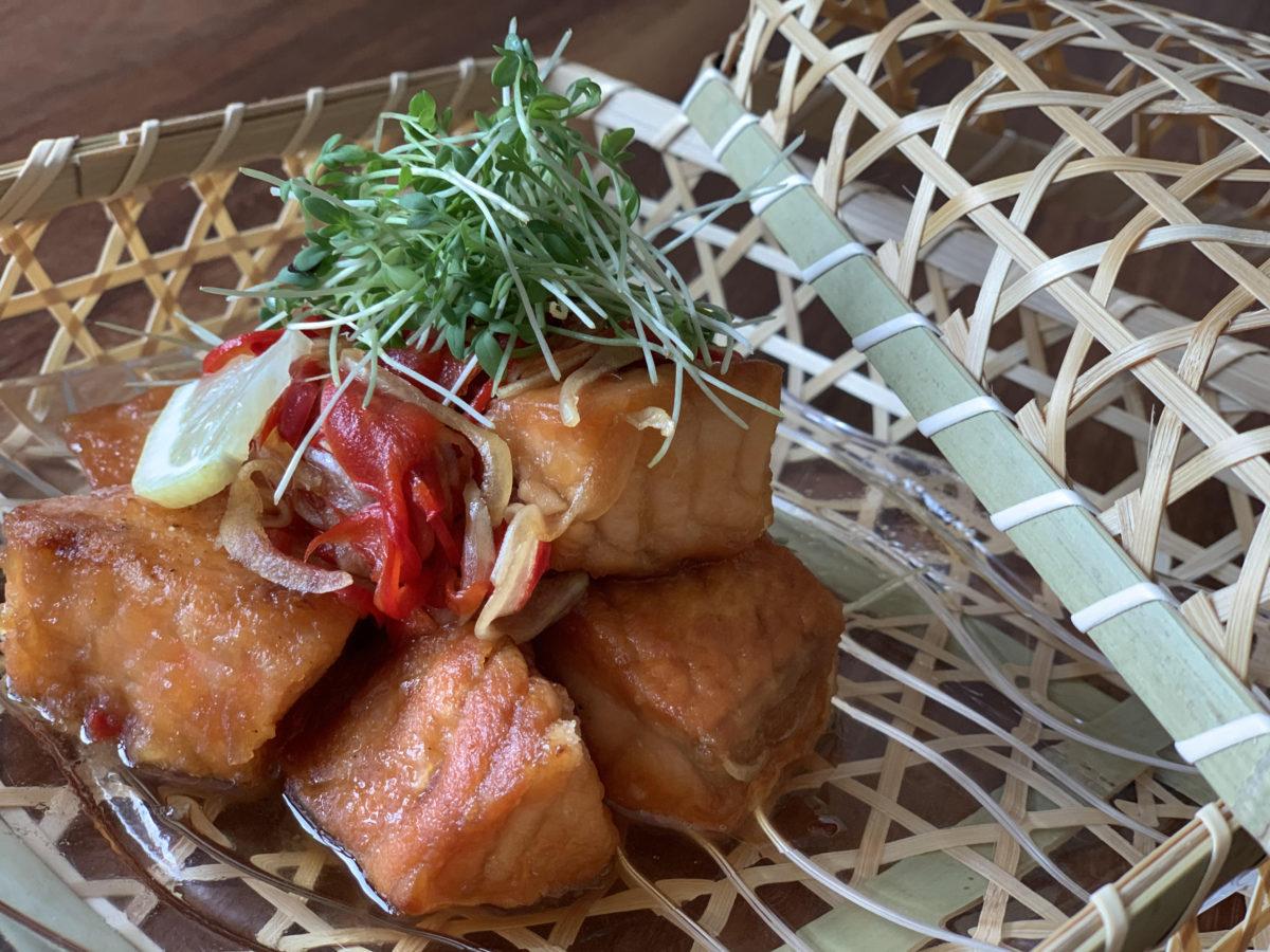 Online Kochkurs Salmon Nanban zuke